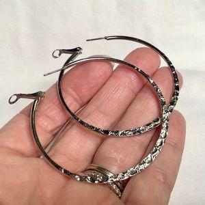 🌺Large Silver Hoop Earrings